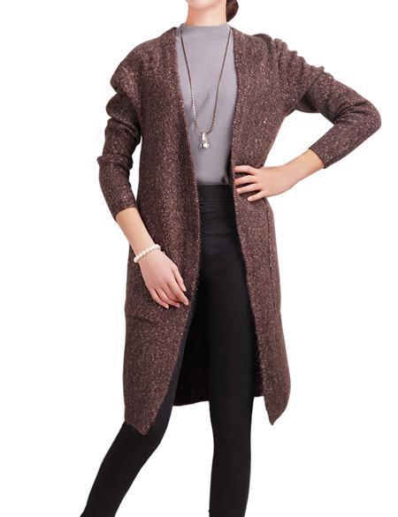DELUXSEY Wool Blend Open Cardigan Sweaters for Women