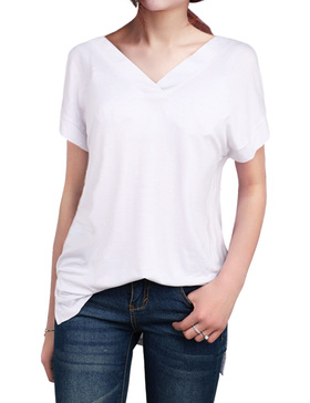 LUOTILIA High Low Shirts for Women - Loose Shirts (WHITE, S)
