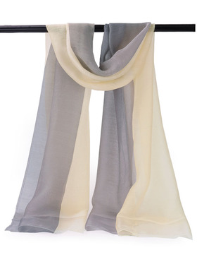 EGO ECHO Womens Ombre Oblong Scarf - Scarves Wraps Long Scarf (Beige & Grey)
