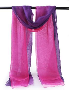 EGO ECHO Womens Ombre Oblong Scarf - Wraps Long Scarf (Purple & Dark Purple)