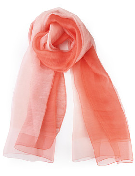 EGO ECHO Womens Ombre Oblong Scarf - Scarves Wraps Long Scarf (Orange & Pink)
