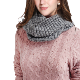 DELUXSEY Womens Wool Blend Winter Infinity Scarf (Heather Gray)