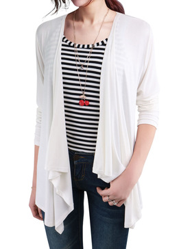 EGO ECHO Modal Lightweight Cardigans for Women - Flowy Cardigan (WHITE, S)