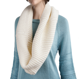 DELUXSEY Womens Wool Blend Infinity Scarf (Cream White)